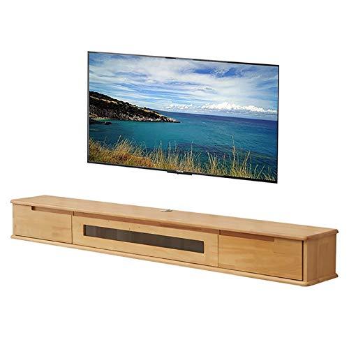 BXYXJ Mueble de TV, Estante Flotante TV, gabinete de Pared para Colgar en el Dormitorio de 100/120/150 cm Negro, Consola Multimedia montada en la Pared. (Color : D, Size : 120CM)