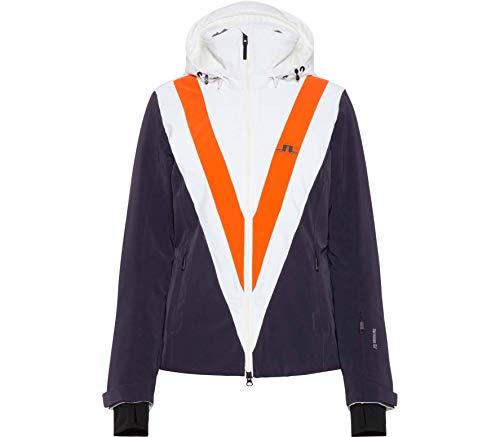J.Lindeberg W Wrangell Jacket Blau-Orange-Weiß, Damen Dermizax™ Jacke, Größe S - Farbe Juicy Orange