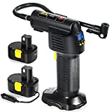 Portable Air Compressor Tire Inflator, Cordless Car Tire Pump with Rechargeable...