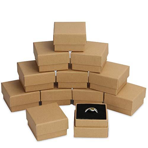 Cajas Kraft - Paquete de 24   Almacenamiento de anillos y joyas pequeñas   Conjunto de organización con tapa   Exhibición de regalo decorativa   Forro suave en cada caja   Pukkr (anillo)