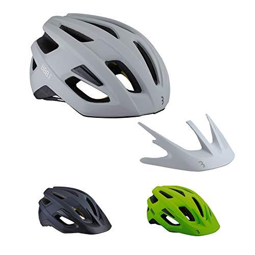 BBB Cycling BHE-22 Helmet Dune MIPS Helm, Off White, L (58-61cm), Matt Weiß