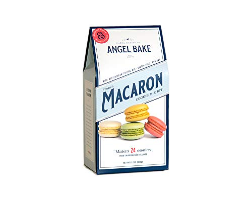 Angel Bake French Macaron Baking Mix With Swiss Buttercream Filling. Gluten Free. Makes 24 cookies.