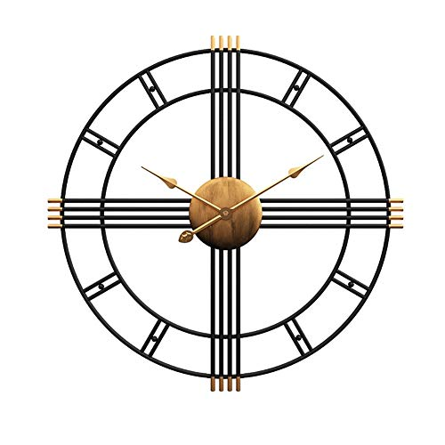 Wall Clock 20 inch metalen Big wandklokken Nordic Silent Indoor Klok for Living Room Hotel Restaurant Decoration, batterijen gevoede