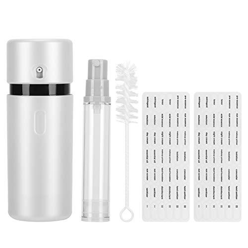Recipiente de viaje 3 en 1, juego de botella de ducha portátil, botella de loción dispensadora corporal con champú y loción de rotación al vacío tipo prensa