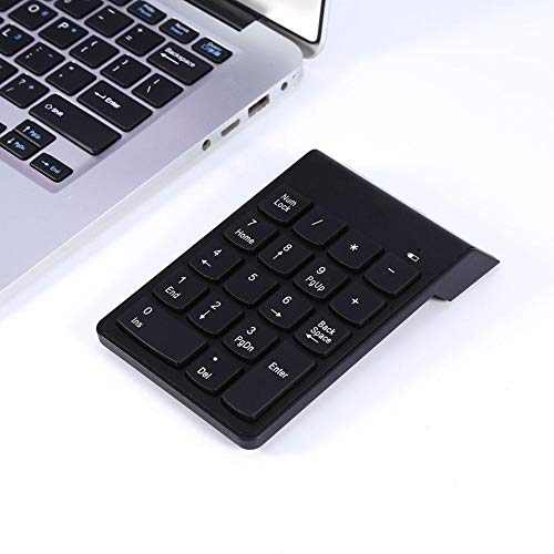 Bluetooth Keyboard - Wireless Bluetooth Number Pad Numeric Keypad 18 Keys Digital Keyboard for Laptop Auto Sleep