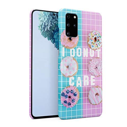 Funda Protectora de Plástico Duro para Samsung Galaxy S20 Plus Citar Rosquilla Funny Crazyt Quote Seeets Cupcakes Candy Baby Blue Pink Colors Cute For Girls Doughnut Funda Delgada y Ligera