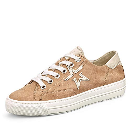 Paul Green Damen Sneaker 4810, Frauen Low-Top Sneaker, schnürer schnürschuh sportschuh Plateau-Sohle weibliche Ladies,Dakar/Biscuit,40 EU / 6.5 UK