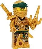 LEGO Ninjago - Mini personaggio Lloyd (Ninja, testa gialla) con spalline e spade