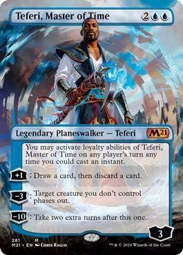 Master of Time Magic MTG Core Set 2021 281 1x Foil Teferi Borderless