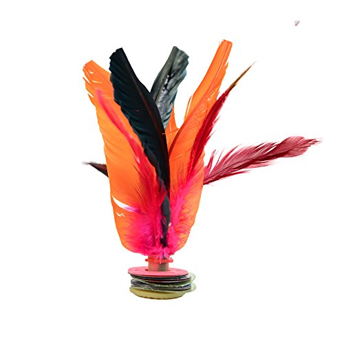 Jianzi Professional Foot Feather by KickFire Classics | Best Easy Hacky Sack Alternative Kick Game | Indoor Outdoor Game for Kids, Adults, & Teens | Includes 1 Shuttlecock