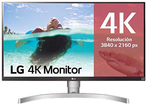 LG 27UK650-W - Monitor 4K UHD de 68,6 cm (27') con Panel IPS (3840 x 2160 píxeles, 16:9, 350...