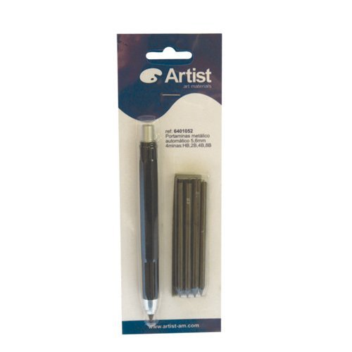 ARTIST METAL MECHANICAL PENCIL 5,6mm + 6 LEADS (4B)