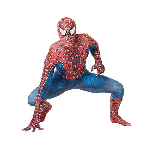 MODRYER Trajes de Spiderman Aficionados Body Bodies de superhéroes de Halloween Cosplay Zentai Película Ropa Niños Potencia de Banda Estrecha Mono Set,Kids XL(130~140cm)