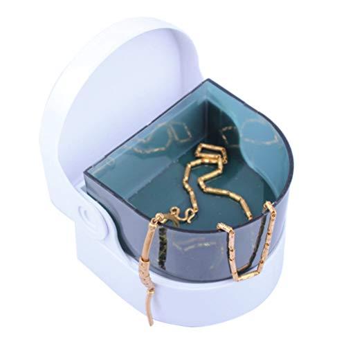 Oyria Limpiador de Vibraciones para Joyas, Relojes, Monedas de Metal, Interruptor de un botón, Mini dentaduras, Lavadora, Limpieza Profunda eficaz
