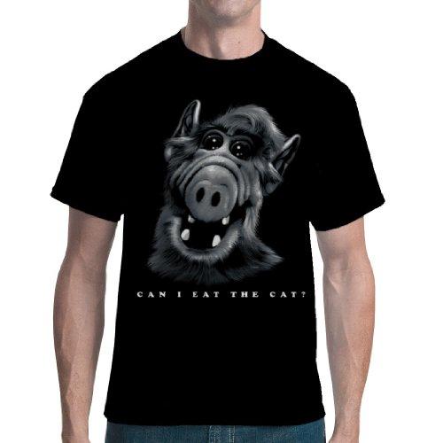 Im-Shirt - A.L.F. - Hunger auf Katze Cooles Unisex Fun Schwarz S