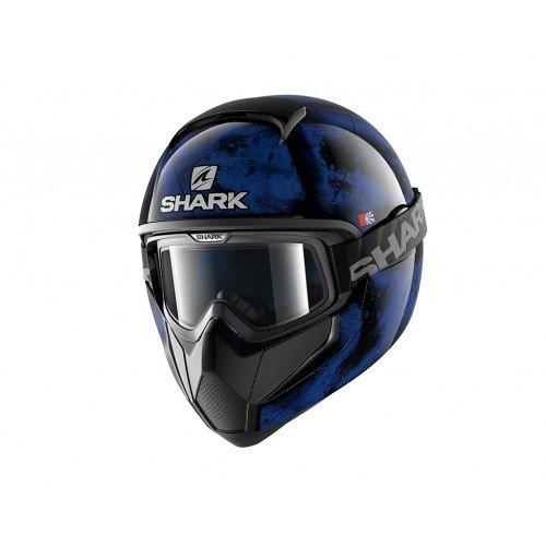 Shark casco Moto VANCORE Flare kao, Negro/Naranja, talla M