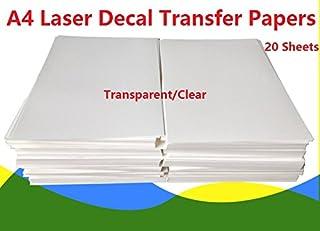 Paquete de 20 hojas de papel para impresora láser, para