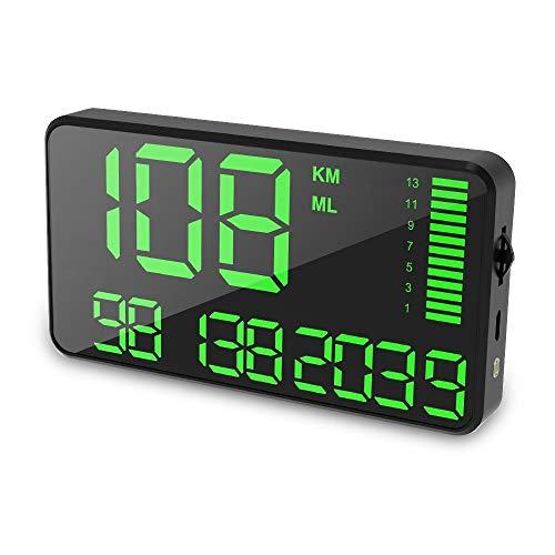 TEEPAO Tachimetro GPS, Display da 5,5 pollici Digital Head-up Car Hud Display...