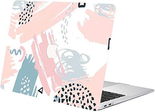 """ACJYX Estuche para MacBook New Pro 15 Pulgadas 2020 2019 2018 2017 2016 Lanzamiento A1707 A1990 Protectora De Plástico De Tacto Suave con Patrones Estuche para MacBook New Pro 15"""", Dibujo Rosa"""