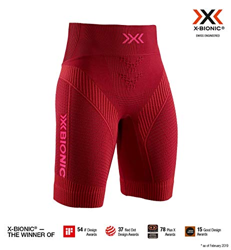 X-Bionic Effektor 4.0 Run Women Shorts Femme, Rouge (Namib Red/Neon Flamingo), XS