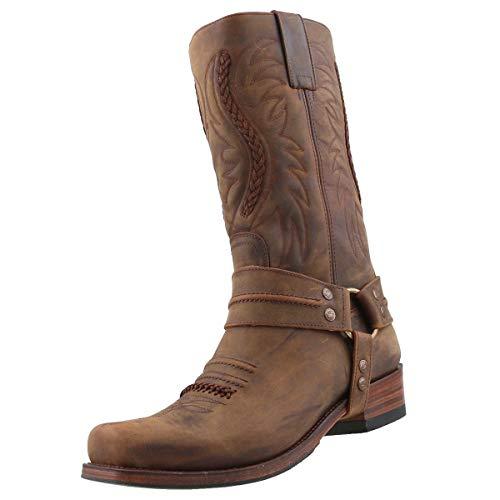Sendra Biker Boots 12209 Braun, Schuhgröße:EUR 42