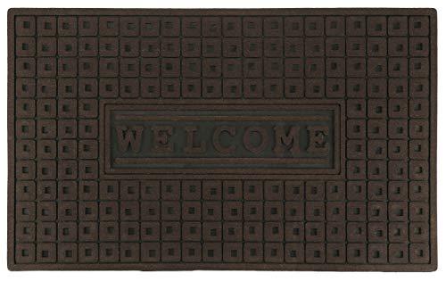 KADAX Gummifußmatte, 75 x 45 cm, Fußmatte für Innen und Aussen, Hauseingang, Haustür, waschbar, Schmutzfangmatte aus Gummi, Sauberlaufmatte Fußabtreter, Türvorleger (braun)