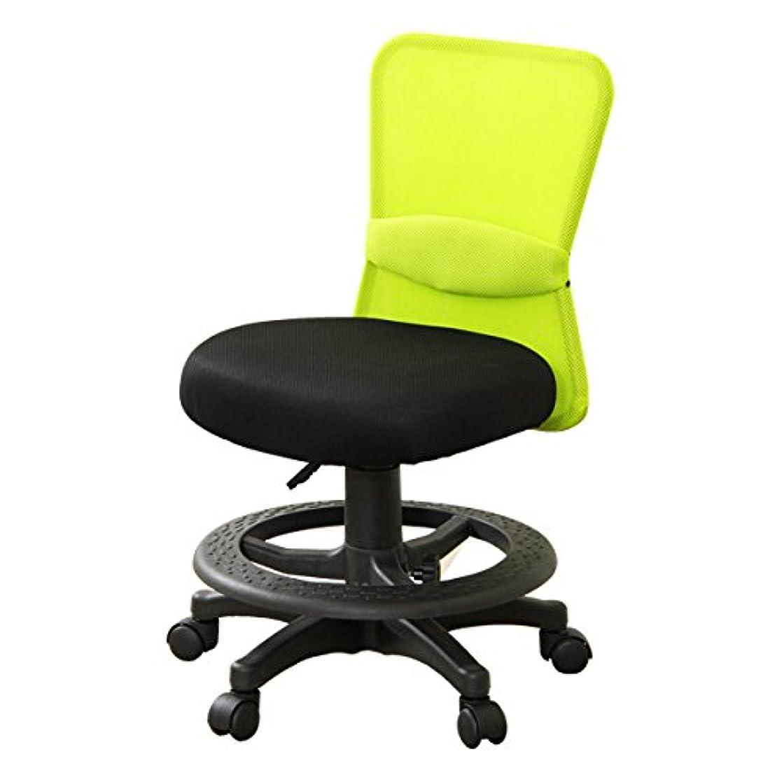 バイパスレポートを書く拡声器オフィスチェア?パソコンチェアでも使える学習椅子【-Learn-リーン】ライムグリーン