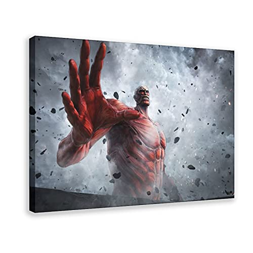 Póster de anime japonés de Ataque a los Titanes 26 en lienzo para decoración de la sala de estar, dormitorio, marco de decoración de 30 x 45 cm