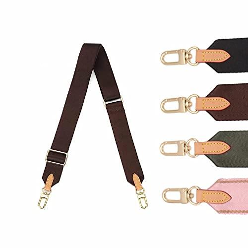 Senral 3.8 cm di larghezza 90-135 cm Tracolla per borsa a lunghezza regolabile Tela per tracolla borsa da trasporto e borsa borsa borsa borsa di ricambio cinghia (Brown)