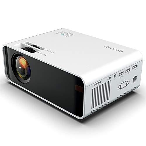 LG&S Mini Proyector De Video Portátil Proyector De Cine En Casa De 1080P A Todo Color Compatible con Interfaz USB/AV/SD/HDMI para Cine En Casa,Blanco