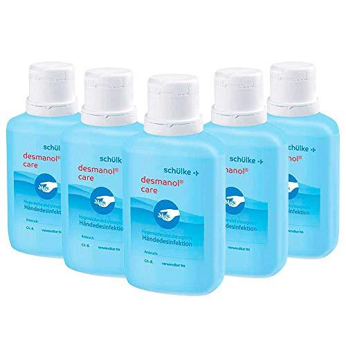 5x 100 ml Schülke Desmanol® Care Händedesinfektionsmittel Desinfektionsmittel, parfümfrei, Panthenol