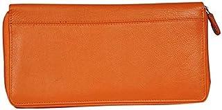 Kashan's Leather Card Holder/ID Card Holder/Bank Passbook Holder/Passport Holder Organizer (Orange)