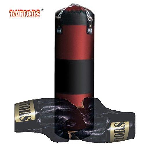 Tattors Sandsack Boxsack original 120cm mit Halterung NEU (mit Erwachsen-Handschuhe)