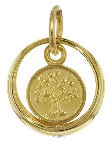 trendor Taufring mit Lebensbaum 333 Gold zauberhafter Taufschmuck für Mädchen, Jungen oder Mütter, tolle Geschenkidee zur Taufe, liebevoller Goldschmuck, 08275