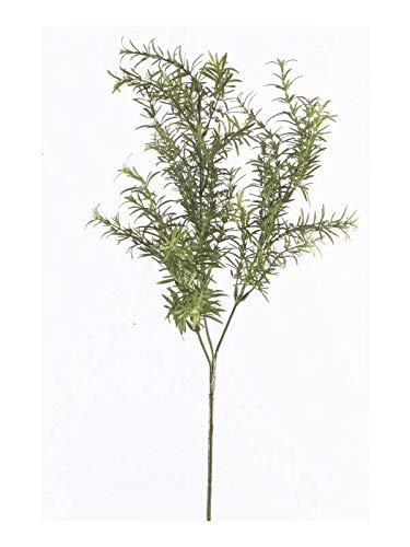 artplants.de Kunstzweig Rosmarin Zweig Daren, grün, 60cm - Künstlicher Rosmarin