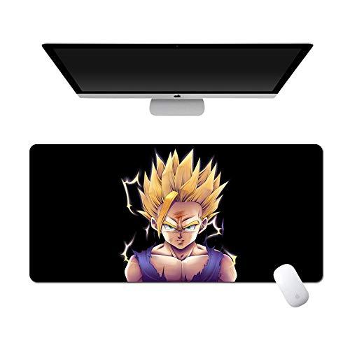 POWARM Tapete Escritorio,Dragon Ball Anime Grande Alfombrilla De Ratón Impermeable Antideslizante Base De Goma Costuras Portátil Computadora Oficina Escritorio Teclado-007_900X400X5Mm