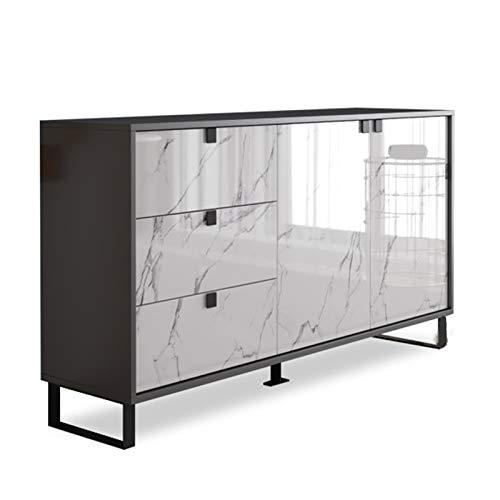 LiChaoWen Sala de Estar aparador Moderno Minimalista gabinete de té Multifuncional Comedor de Cocina Armario de Cocina de gabinete Estrecho Armario de Almacenamiento de aparador