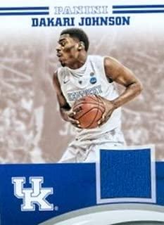 343679 Dakari Johnson Player Worn Jersey Patch Basketball Card - Kentucky Wildcats 2016 Panini Team Collection No. DJ-UK
