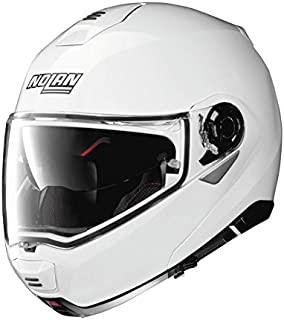 Nolan N100-5 Motorcycle Helmet Metallic White Large