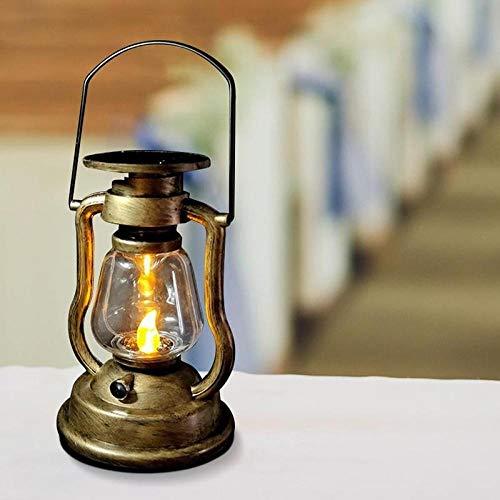Luz solar Lámpara de aceite retro recargable solar Linterna al aire libre Jardín Vela LED Pared Luz de noche electrónica Luz de decoración vintage para el hogar Luces