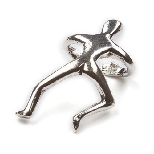 Männchen Ohrklemme Ohrschmuck Silber Stückpreis! kein gestochenes Ohrloch notwendig Schmuck Kletterer
