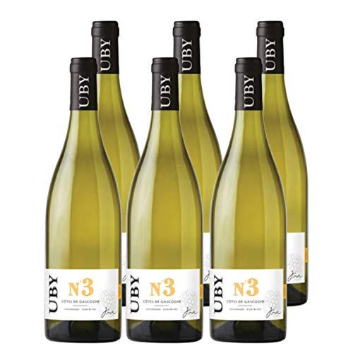UBY Colombard Sauvignon Gascogne IGP No.3 Weißwein Frankreich 2019 trocken (6x 0.75 l)