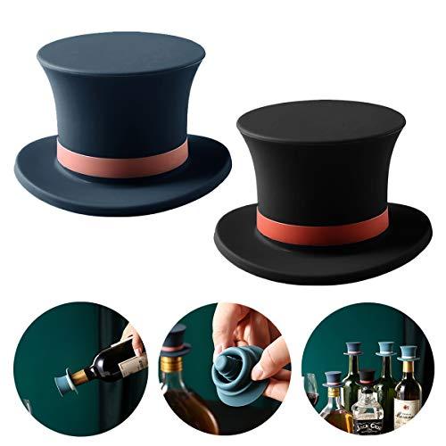 Tappo per bottiglia di vino, in silicone, divertente tappo per vino rosso, per conservare vino, vino, birra, champagne, soda, birra, bibite, gadget da cucina
