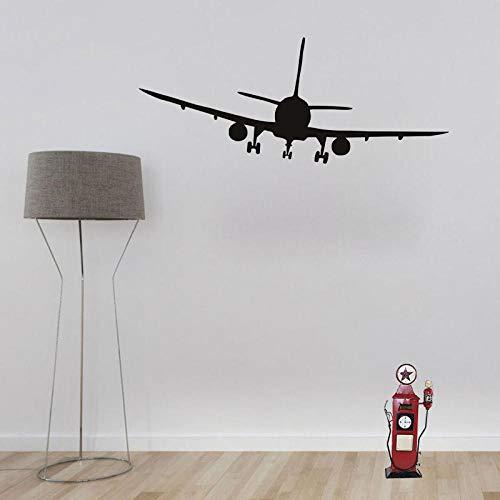 Terilizi Cool verkeersvliegtuig vliegtuig silhouet muursticker besturing decor woonkamer slaapkamer decor vinyl stickers voor kinderen decoratie