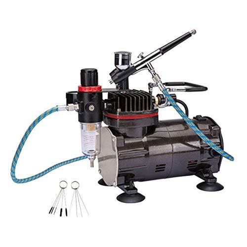 ダブルアクション エアブラシ&オイルレス エアーコンプレッサー セット