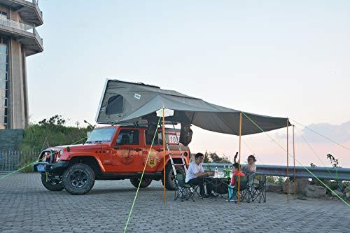 『CampGear正規品』最大4人まで泊まれるファミリールーフトップテントハシゴを引くだけの簡単設営!ルーフトップテント,開閉設置が短時間,ハードシェルタイプ,耐久性、断熱性も抜群,SUVテント,最大4人のルーフテント