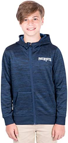 NFL Ultra Game New England Patriots Extra Soft Fleece Pullover Hoodie Sweatshirt Medium Black product image