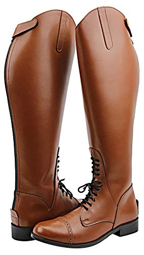 Hispar Women Ladies Victory Leather English Field Boots Horse Back Riding Equestrian Tan
