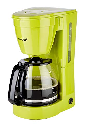 Korona 10118 Kaffeemaschine | Filter Kaffeeautomat für 12 Tassen Kaffee | Kanne aus Glas | Grün | 800 Watt
