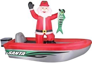 Airflowz 10' Santa in Boat Inflatable